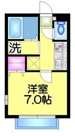 イサムハイツ2階Fの間取り画像