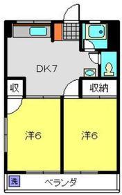 新横浜駅 徒歩21分4階Fの間取り画像