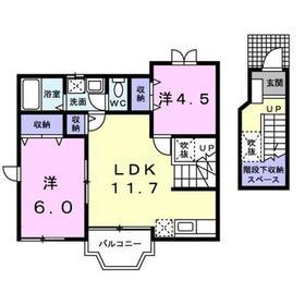 ラフォーレ弐番館2階Fの間取り画像