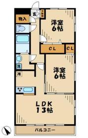 ラピュール4階Fの間取り画像
