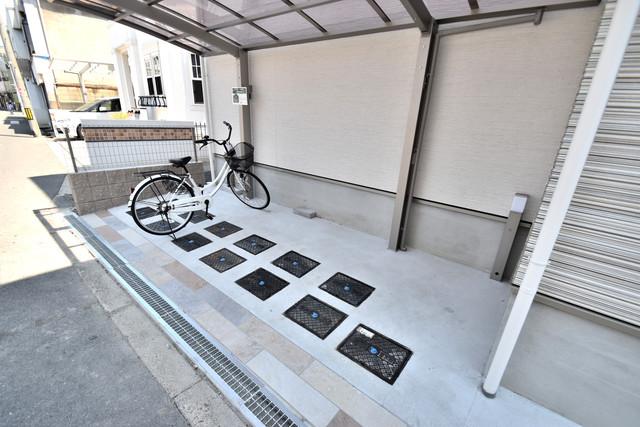 クリエオーレ高井田西 あなたの大事な自転車も安心してとめることができますね。