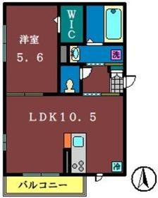ディアコート(本町)3階Fの間取り画像