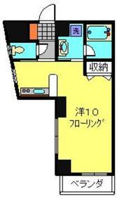 横浜駅 徒歩19分4階Fの間取り画像