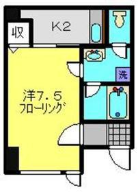 AKハイム入江パーク1階Fの間取り画像
