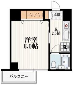 コーポレイトハウスM3階Fの間取り画像