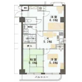 シャンベール宮千代2階Fの間取り画像