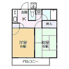 第3フラッツ京明2階Fの間取り画像
