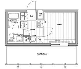 プレミアムキューブ川崎4階Fの間取り画像