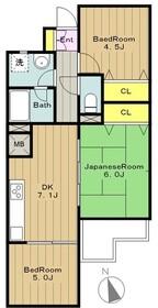 ライオンズマンション相武台3階Fの間取り画像