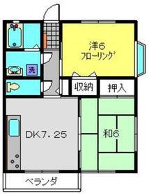 コーポアライ2階Fの間取り画像