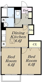 カーサ六番館1階Fの間取り画像