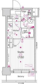 ガーラ・ステージ横濱関内5階Fの間取り画像