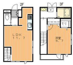 カーサ目黒大鳥2階Fの間取り画像
