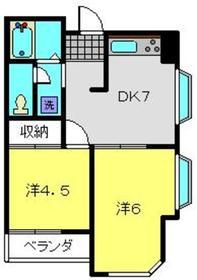 高橋ビル3階Fの間取り画像