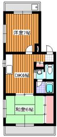 下赤塚駅 徒歩20分2階Fの間取り画像