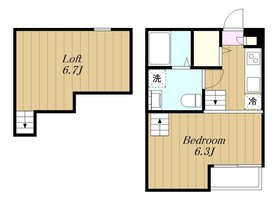 Rumah KL2階Fの間取り画像