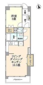 四谷フラワーマンション7階Fの間取り画像