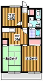地下鉄成増駅 徒歩30分4階Fの間取り画像