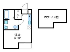 ルマケーエル1階Fの間取り画像