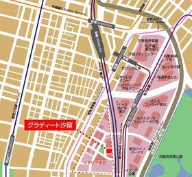 新橋駅 徒歩8分案内図