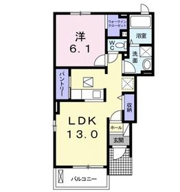 ジェンティルドンナ1階Fの間取り画像