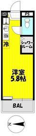 武蔵新城駅 徒歩4分2階Fの間取り画像