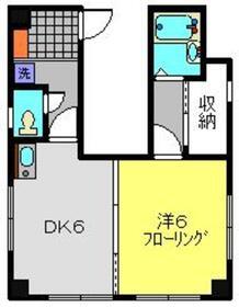 横山マンション5階Fの間取り画像