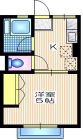 シティハイム サンシャイン2階Fの間取り画像