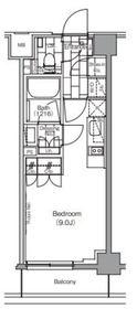 ザ・パークハビオ新宿4階Fの間取り画像