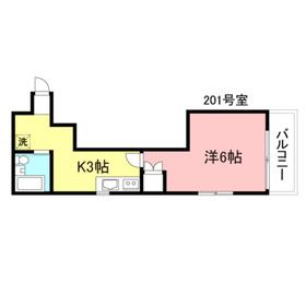 プチメゾンM2階Fの間取り画像