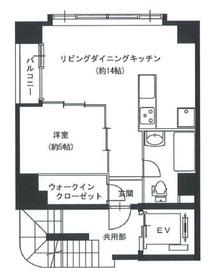 飯田橋駅 徒歩13分7階Fの間取り画像