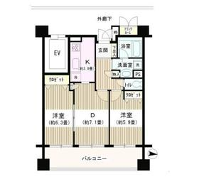 DOMカメイド9階Fの間取り画像
