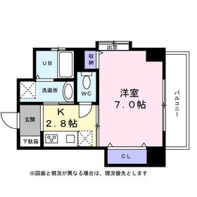 プロビデンス栄南9階Fの間取り画像