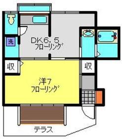 金子荘1階Fの間取り画像