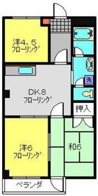 新丸子駅 徒歩21分2階Fの間取り画像