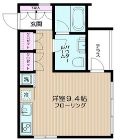 フラッツ・DEN-フラッツデン1階Fの間取り画像