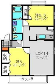 鶴ヶ峰駅 徒歩27分2階Fの間取り画像