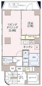 ザ・スカイグランディア神田錦町10階Fの間取り画像