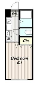 リトルグレイス22階Fの間取り画像