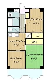 ランバーパート62階Fの間取り画像