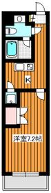 ビバリーホームズ赤塚公園Ⅱ5階Fの間取り画像