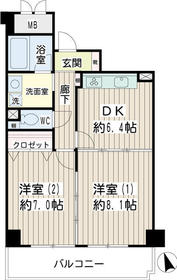 ガルファーサ新横浜1階Fの間取り画像