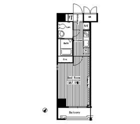 ハイトサーブル川崎9階Fの間取り画像
