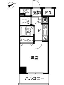 スカイコートヴィーダ五反田WEST13階Fの間取り画像