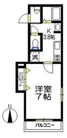 リトルフォレスト経堂2階Fの間取り画像