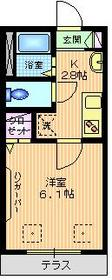 石川台駅 徒歩9分1階Fの間取り画像