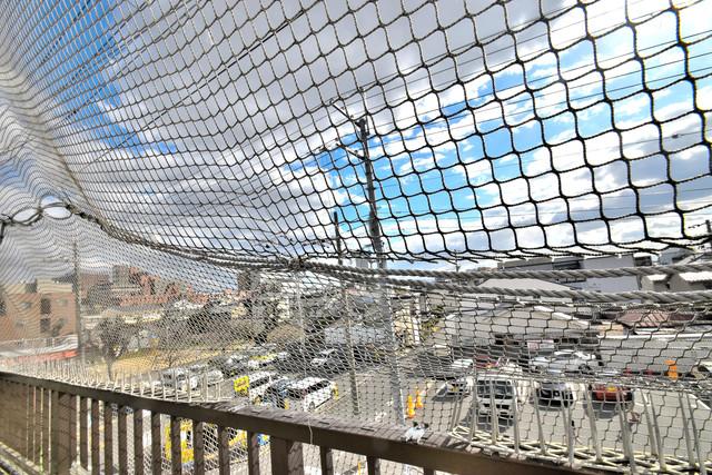 ハイム上小阪 この見晴らしが陽当たりのイイお部屋を作ってます。