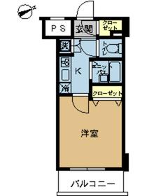 スカイコートヴィーダ五反田WEST6階Fの間取り画像