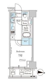 パークアクシス木場キャナル ウエスト6階Fの間取り画像