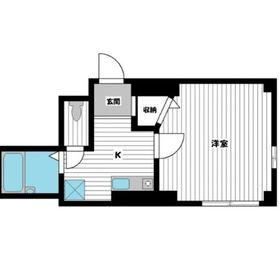 クロスリバーⅡ1階Fの間取り画像